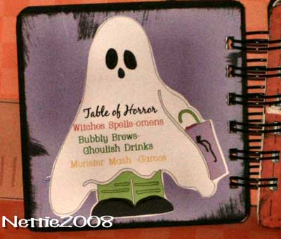 halloween scrapbook - ghosty