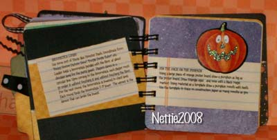halloween scrapbook - more recipes