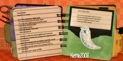 halloween scrapbook - recipes