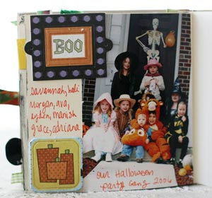 Halloween through the years scrapbook