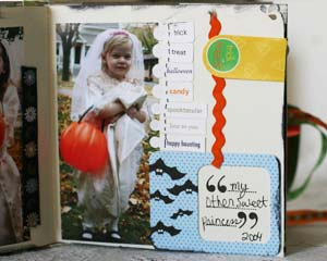 Halloween through the years scrapbook - princesses