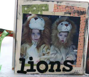 Halloween through the years scrapbook - lions