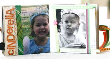 Halloween through the years scrapbook - cinderella