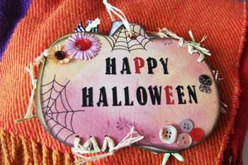 happy halloween scrapbook