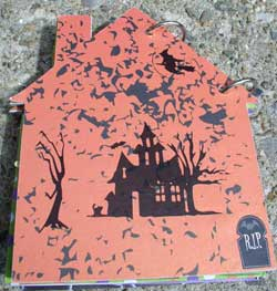 haunted house scrapbook - back cover