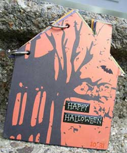 haunted house scrapbook