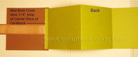 attach  mini scrapbook tri fold