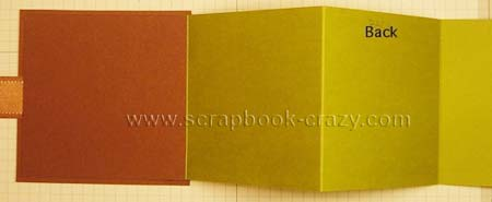 mini scrapbook tri fold