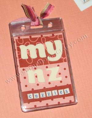 ID Badge Holder Mini Album