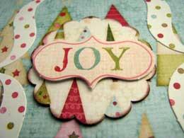 Joy Christmas Scrapbook Mini Album
