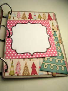 Joy Christmas Scrapbook Mini Album  2