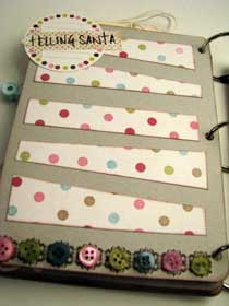 Joy Christmas Scrapbook Mini Album  8