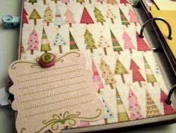 Joy Christmas Scrapbook Mini Album  5