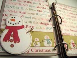 Joy Christmas Scrapbook Mini Album  4