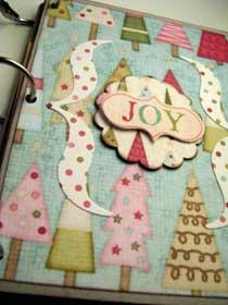 Joy Christmas Scrapbook Mini Album  3