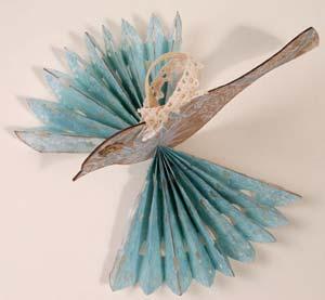 snowbird kirigami christmas ornament