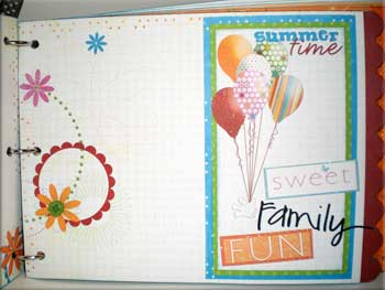 summer mini scrapbook fun