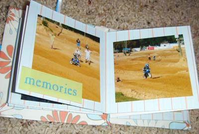 maze mini scrapbook - having fun at motor-x
