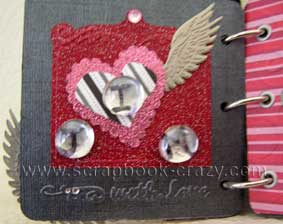 pink and grey scrapbook page