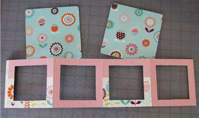 lantern mini scrapbook page 2