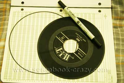 mini record  scrapbook albums