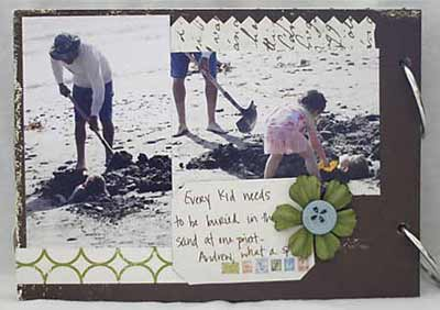 making memories scrapbook pages 3-4
