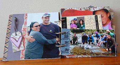 create photo album with mixed media
