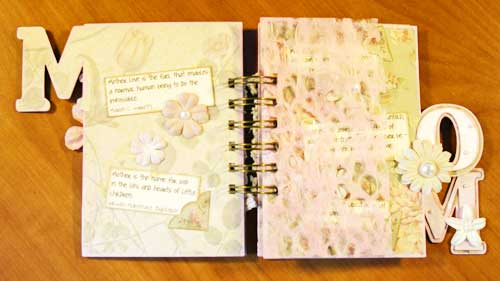 mothers day scrapbook gift by tracy