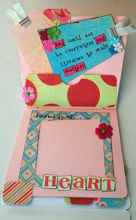 mini book with pocket for quote.