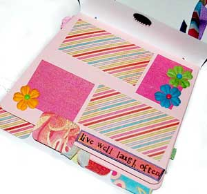 mothers day purse mini album, live ,laugh