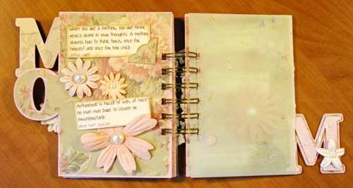 Mom mini scrapbook 2008