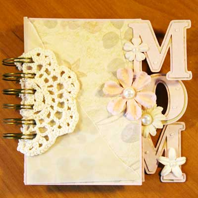 mothers day mini album front cover - bound and closed
