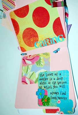 mothers day mini scrapbook page 1 with quote