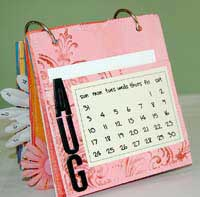 paper bag album - august