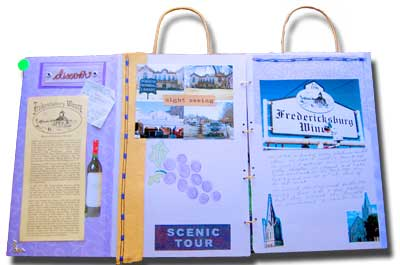 recycled wine paper bag scrapbook