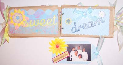 paper bag scrapbook - a sweet dream