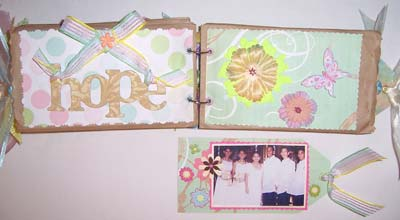 paper bag scrapbook - HOPE