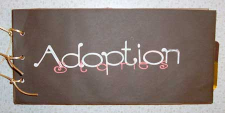pet adoption scrapbooking mini album
