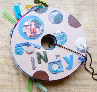 record album scrapbook mini. The front cover