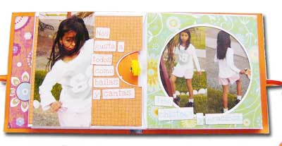 scrapbook letters mini album inner pages
