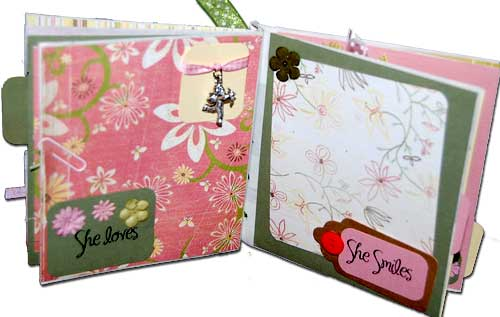 Make A Girl Mini Album - Making Mini Scrapbooks