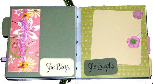 girly mini book - she plays