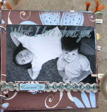 scrapbook photo album - what i love about you