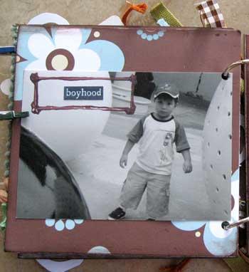 boyhood - scrapbook photo album