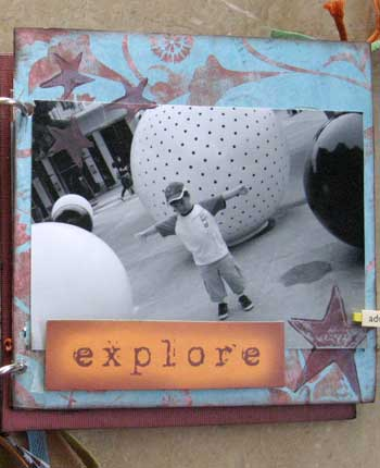 explore - scrapbook photo album