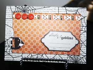 spooky card mini scrapbook
