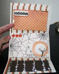spooky card mini scrapbook