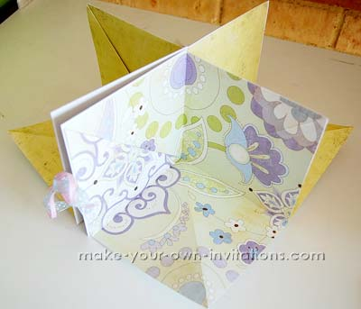cool square paper mini album