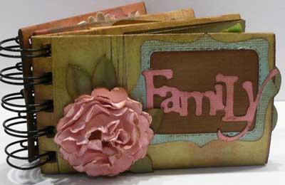 Family toilet paper roll mini album