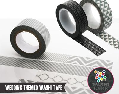 wedding themed washi tape
